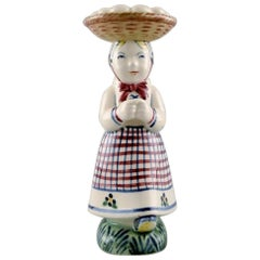 Aluminia, Denmark Child Care Figurine, the Woman with the Eggs from 1947