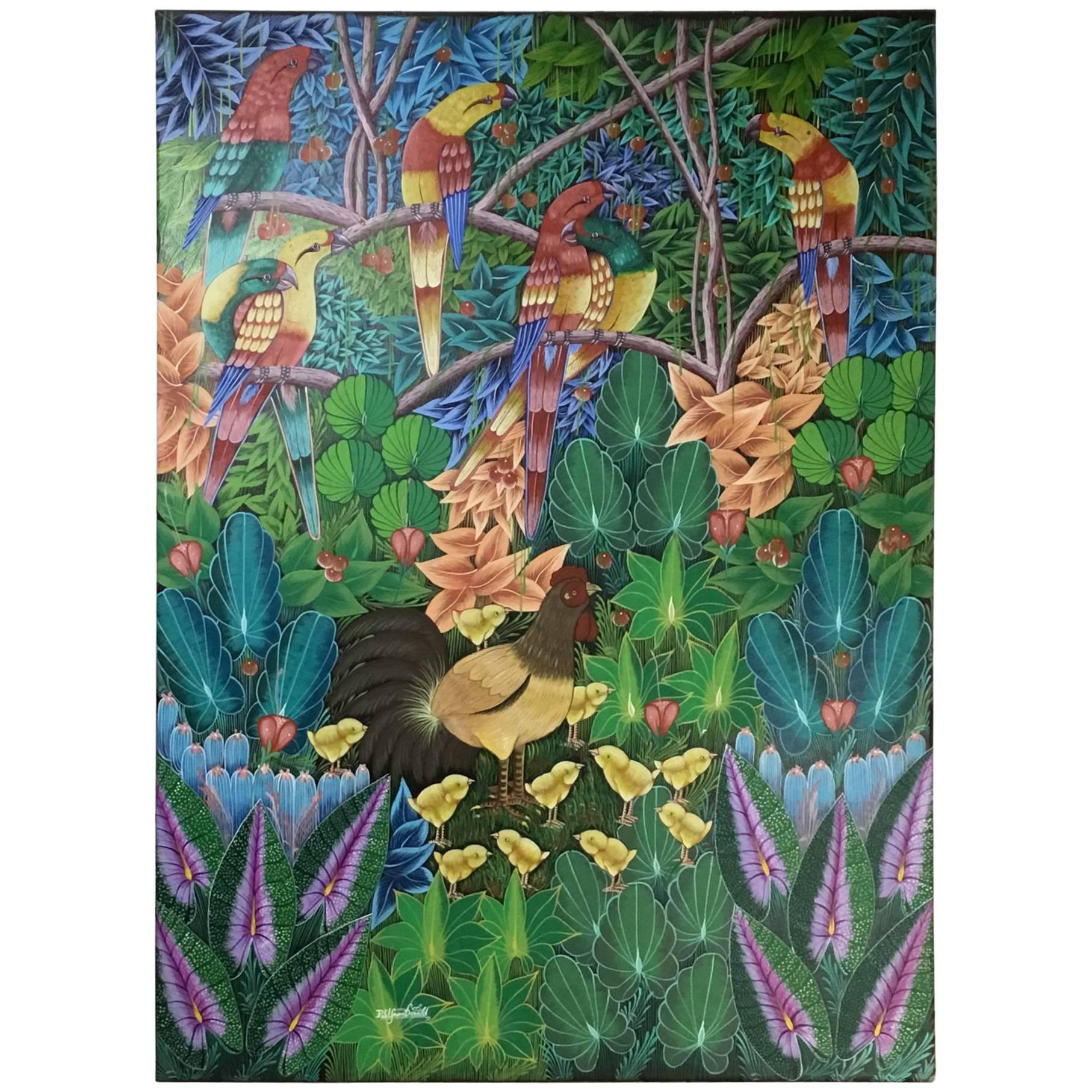 Haitian Oil Painting on Canvas