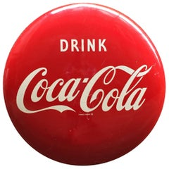 Coca Cola Enamel Button Sign