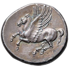 Ancient Greek Silver Pegasus Stater Coin from Syracuse, 304 BC