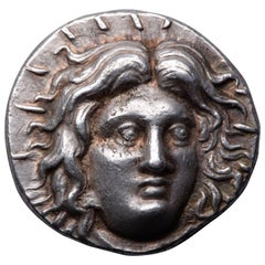 Ancient Greek Silver Tetradrachm Coin from Rhodes, 230 BC