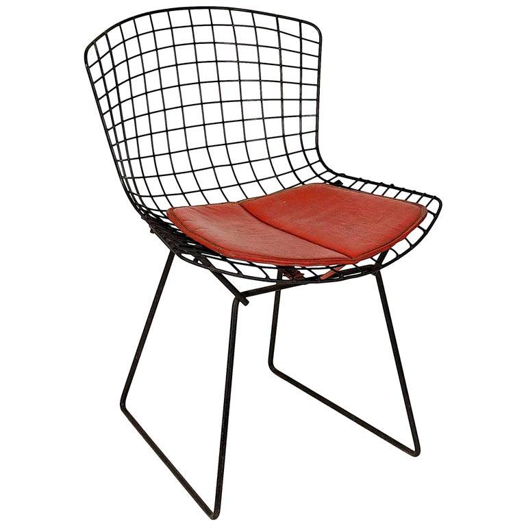 Vintage Black Original Bertoia Chair