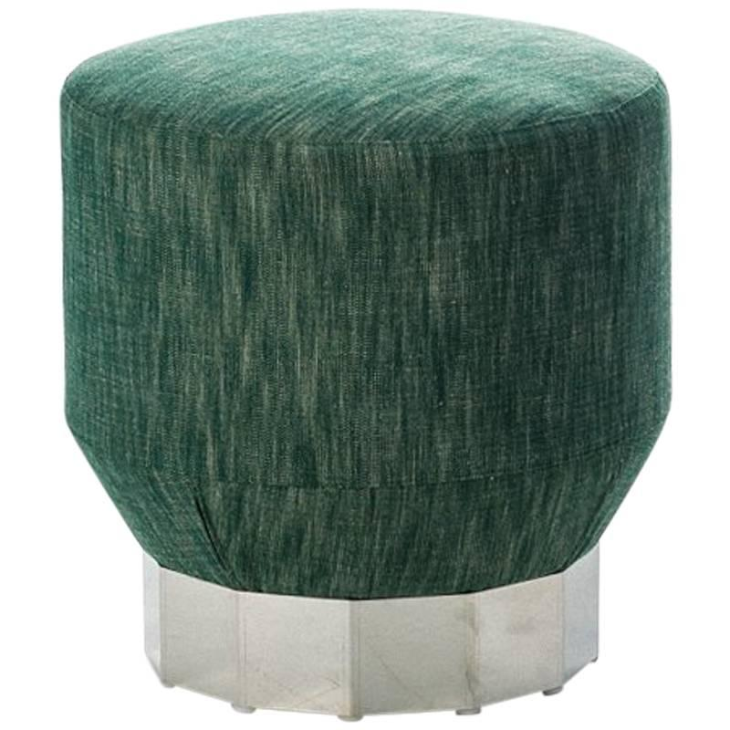 """""""Deco Futura"""" Wood & Stainless Steel Coated Fir Base Stool by Moroso for Diesel"""