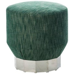 """Deco Futura"" Wood & Stainless Steel Coated Fir Base Stool by Moroso for Diesel"