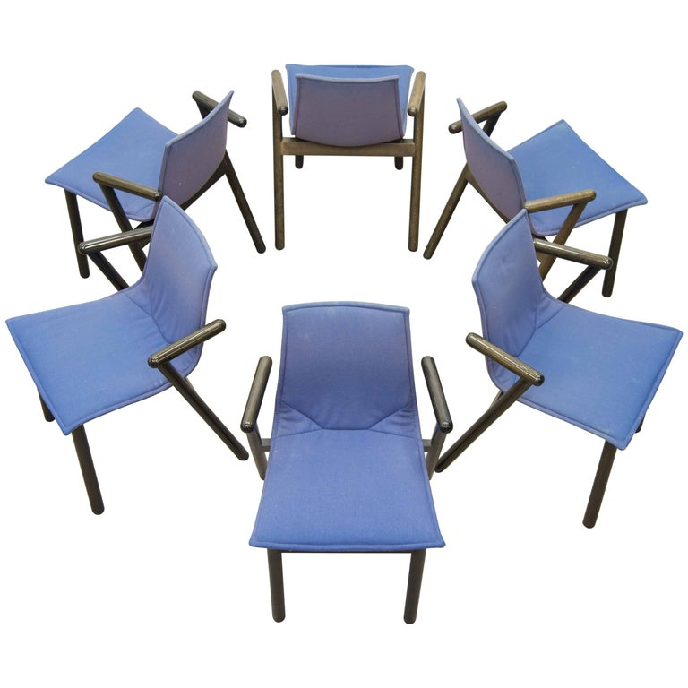 Set of Six chairs Villabianca 1985 by Vico Magistretti for Cassina
