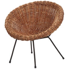 French Kid's Wicker Chair, 1960s