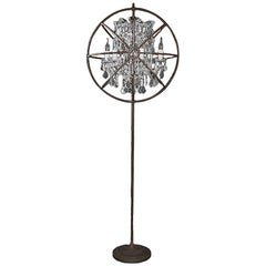 Crystal Antique Floor Lamp Iron and Crystal