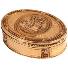 18th Century Tri-Color Gold Snuff Box