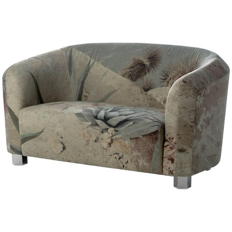 """""""Deco Futura"""" Small Two-Seat Sofa with Wood Frame & Fiber by Moroso for Diesel"""