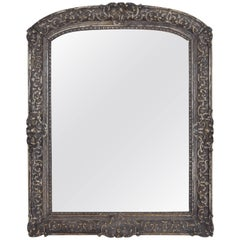French Carved Regence Mirror, Early 18th Century