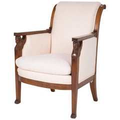 Empire Egyptian Revival Mahogany Armchair