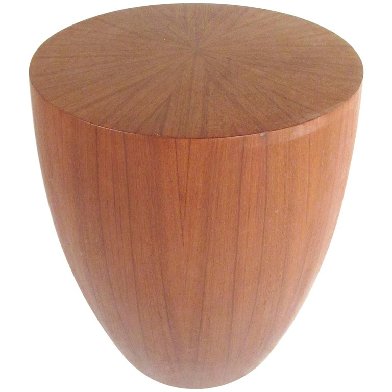 Contemporary Teak Pedestal or End Table For Sale