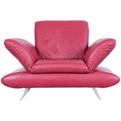 Koinor Rossini Designer Leather Armchair Red Leather Function One Seat
