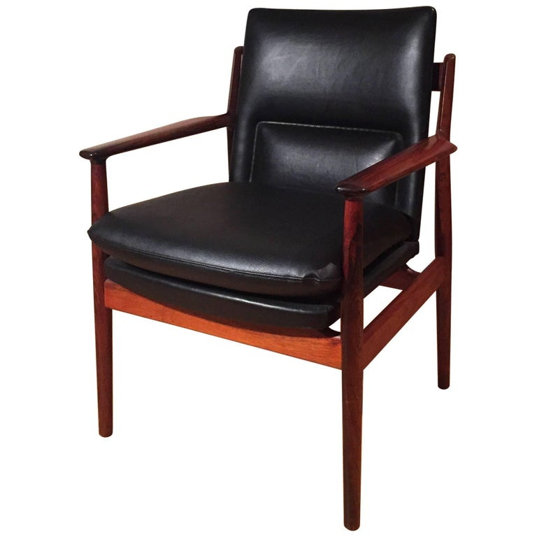 Armchair Arne Vodder for Sibast Rosewood Model 431 For Sale