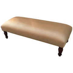 Upholstered Double Ottoman Bench