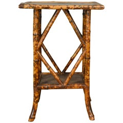 Antique Bamboo Table, Occasional, Side, Oriental, Victorian, circa 1900