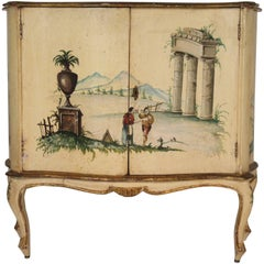 1960s Italian Painted Classical Cabinet