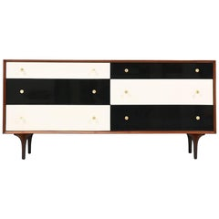 Richard Thompson Lacquered and Walnut Dresser for Glenn of California