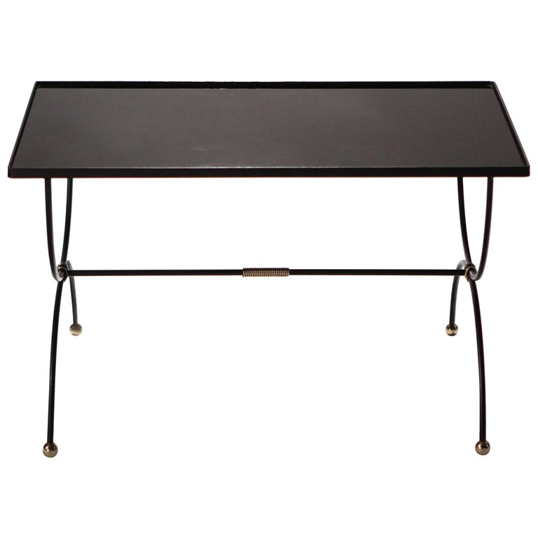 French Coffee Table Attributed to Jacques Adnet, 1950s
