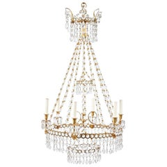 19th Century Swedish Ormolu Neoclassical Chandelier