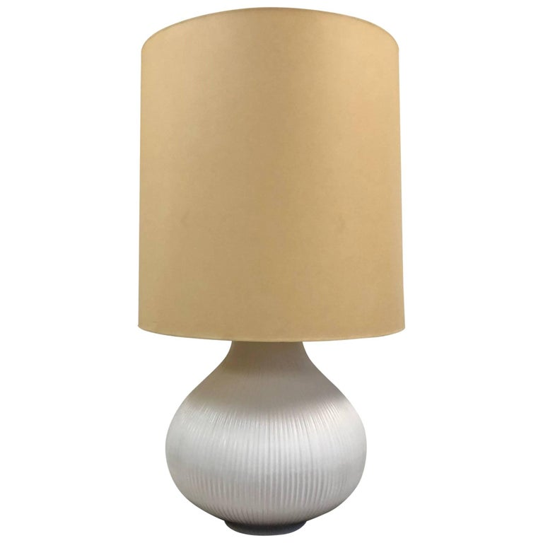 Modern Oversized White Ceramic Lamp