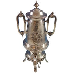 Medallion S. Mead & Co Sterling Silver Samovar Hot Water Urn Egyptian Hollowware