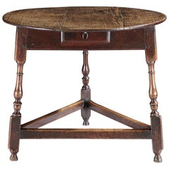 Rare William and Mary Period Cricket Table