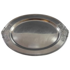 Saint Dunstan Chased by Gorham Sterling Silver Demitasse Tray Hollowware