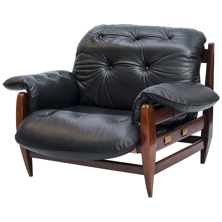 Armchair Rodeio with Rosewood Structure Designed by Jean Gillon in the 1960s