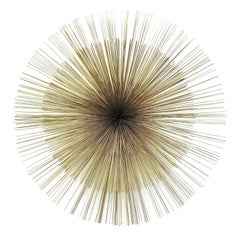 Curtis Jere Brass Starburst Wall Sculpture Mid-Century Modern Metal Art