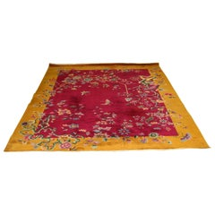 Art Deco Chinese Massive Large Nichols Floral Area Rug Carpet