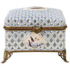 Meissen Marcolini Reticulated Porcelain Covered Box
