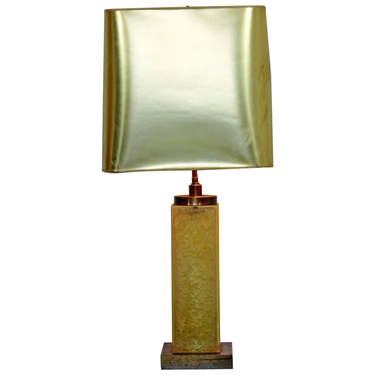 Mid-Century Modern Marie Claude De Fouquieres French Resin Table Lamp, 1970s