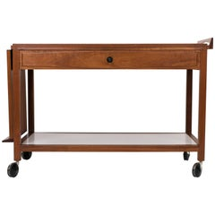 Glenn of California Bar Cart in Walnut and White Laminate for John Stuart