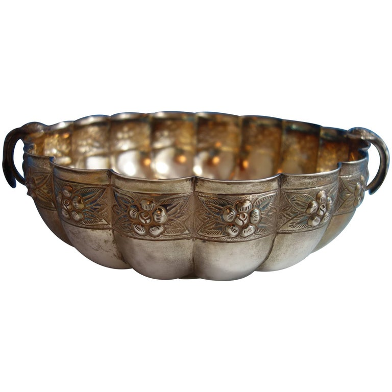 Aztec Rose by Sanborns Mexican Mexico Sterling Silver Fruit Bowl Hollowware
