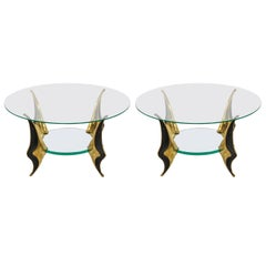 Pair of Bronze Side Tables by Willy Daro