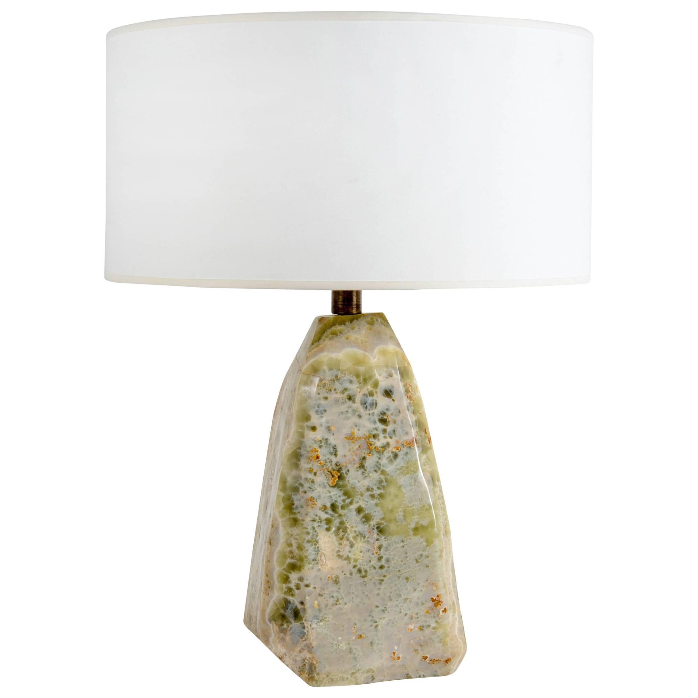 Brutalist Onyx Table Lamp