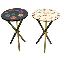 Pair of Side Tables by Piero Fornasetti