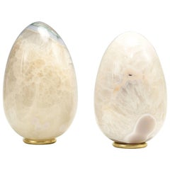 Group of Two Agate Sculptures