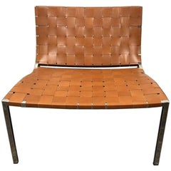Stone International Esther Leather and Cushion Accent Chair