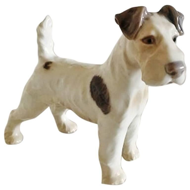 Bing and Grondahl Figurine Wire Fox Terrier #1998 For Sale at 1stdibs