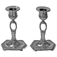 WMF Art Nouveau Jugendstil Candlesticks, Germany, circa 1910