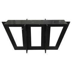 Italian Black Marble Modern Console or Sofa Table by Massimo Mangiardi