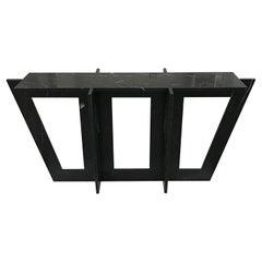 Italian Black Marble Modern Console or Sofa Table by Massimo Mangiardi