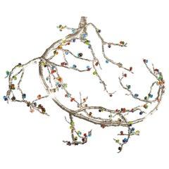 21st Century Sculptural Modern Handmade Pendant Led Lamp. Chandelier