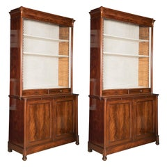 Large Pair of Mahogany Louis Philippe Bookcase