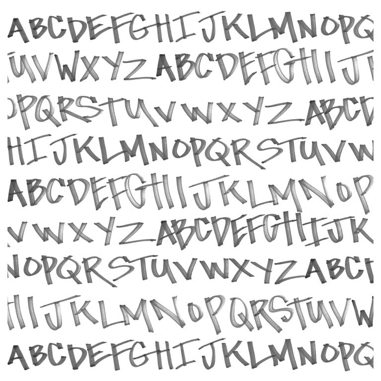 NYC Alphabet in Black on White on Smooth Paper