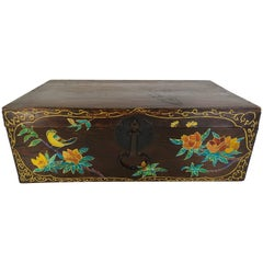19th Century Hand-Painted Korean Trunk