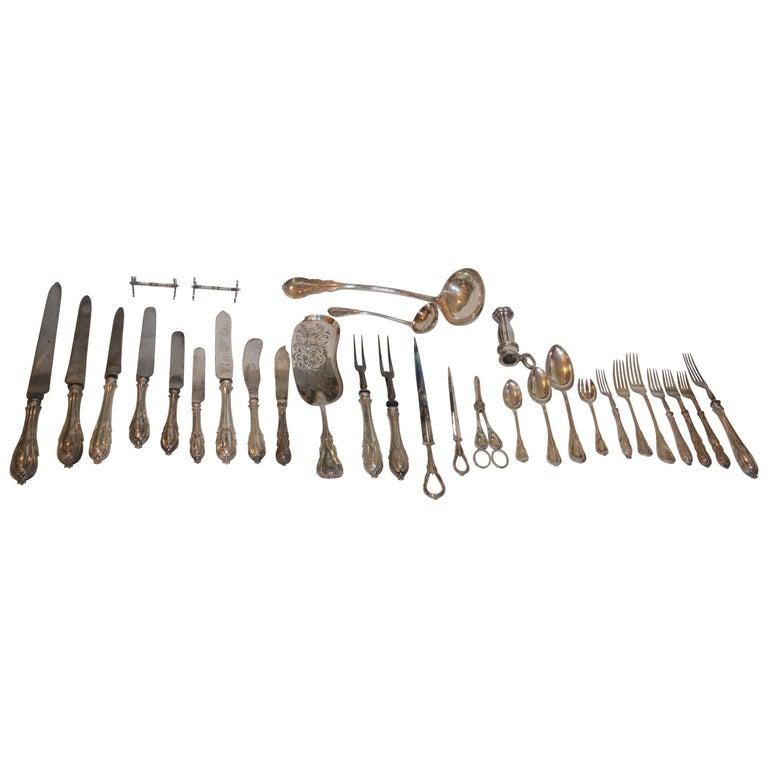 19th Century Elkington & Company 204-Piece Silver Set For Sale