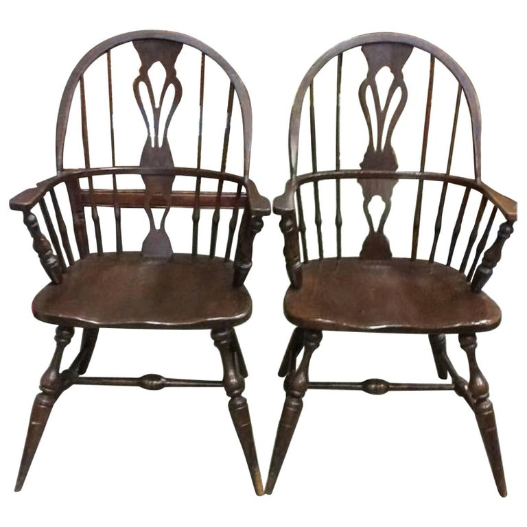 Pair of Windsor Armchairs